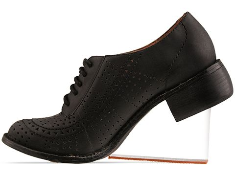 Jeffrey Campbell In Black Wash Clear Upend