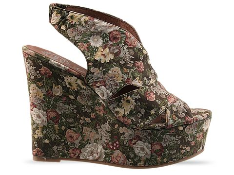 Jeffrey Campbell In Khaki Floral V Man Fab