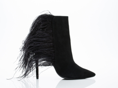 Jeffrey Campbell In Black Suede Combo Vain Feather