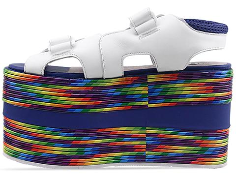 Jeffrey Campbell In White Rainbow Vay Cay