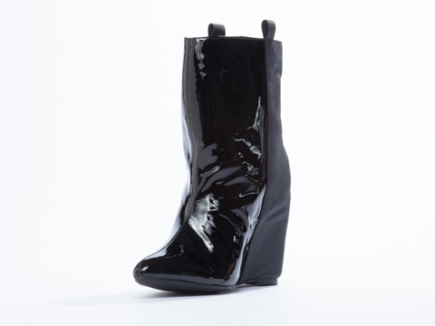 Jeffrey Campbell In Black Patent Black Rubber Verve