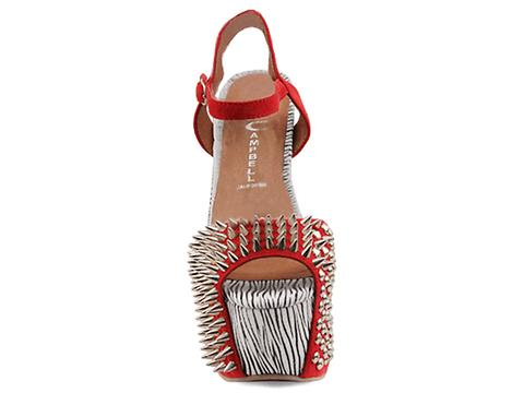 Jeffrey Campbell In Red Black White Zebra Vicious Exotic