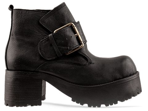 Jeffrey Campbell In Black Distressed Ving
