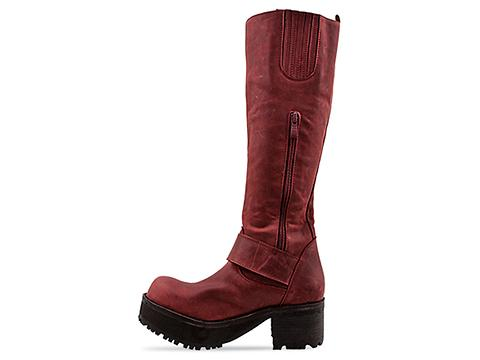 Jeffrey Campbell In Wine Waxy Ving Tall