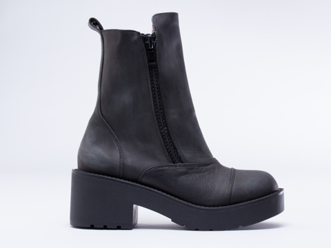 Jeffrey Campbell In Black Distressed Ward