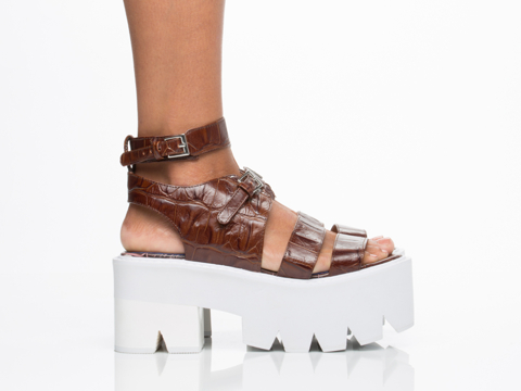 Jeffrey Campbell In Brown Croco White Weymouth