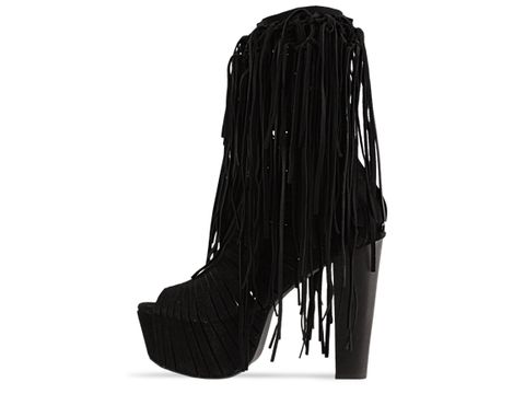 Jeffrey Campbell In Black Suede Black Heel Wildchild