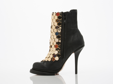 Jeffrey Campbell In Black Gold Wilmont