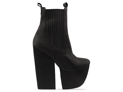 Jeffrey Campbell In Black Distressed Wolf