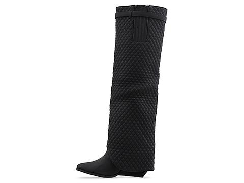 Jeffrey Campbell In Black Quilted Workin Q