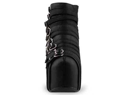 Jeffrey Campbell In Black Leather Wrecker