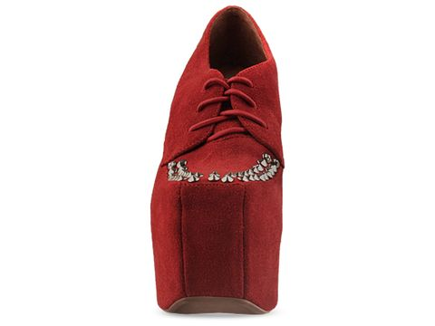 Jeffrey Campbell In Red Suede Silver Wright