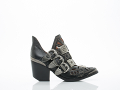 Jeffrey Campbell In Black Pebble Silver Wycliff