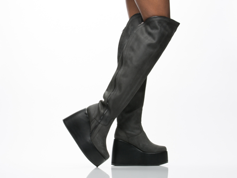 Jeffrey Campbell In Black Washed Yonkers