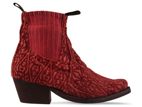 Jeffrey Campbell In Red Tapestry Yuma Fab