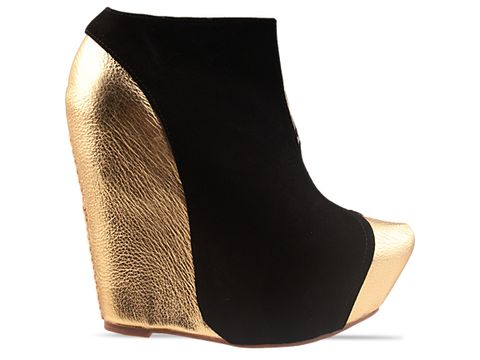 Jeffrey Campbell In Gold Black Zandy NS
