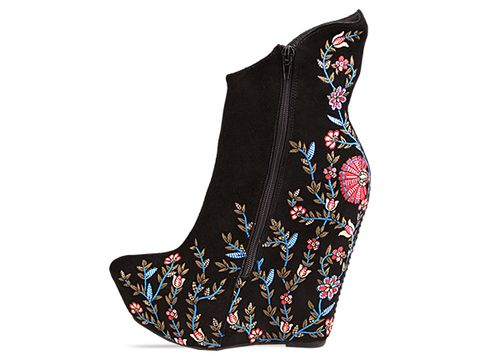 Jeffrey Campbell In Black Embroidery Zany