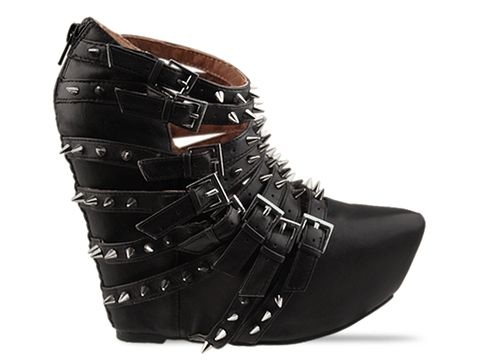 Jeffrey Campbell In Black Silver Zip 2 Stud