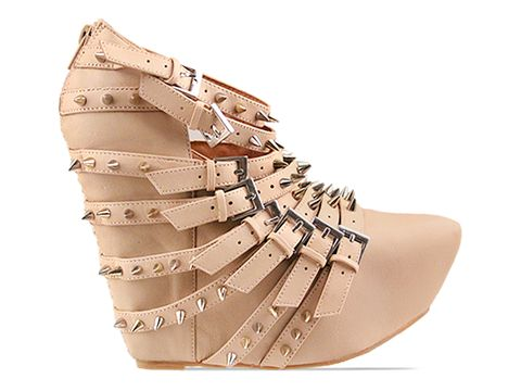 Jeffrey Campbell In Ivory Silver Zip 2 Stud