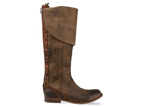 Jeffrey Campbell In Green Brown Leather Zipped