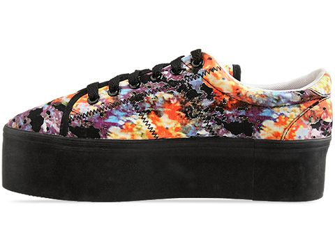 Jeffrey Campbell In Turquoise Orange Floral Zomg