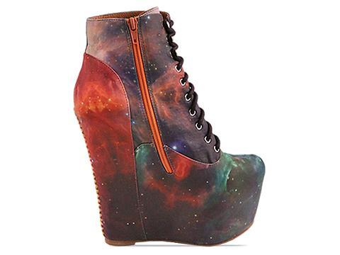 Jeffrey Campbell X BlackMilk In Rainbow Galaxy Damsel