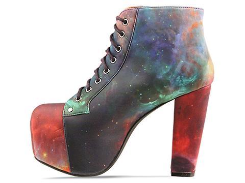 Jeffrey Campbell X BlackMilk In Rainbow Galaxy Lita Fab
