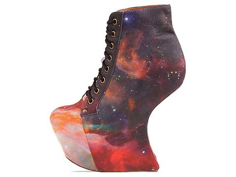 Jeffrey Campbell X BlackMilk In Rainbow Galaxy Night Lita