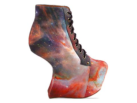 Jeffrey Campbell X BlackMilk In Rainbow Galaxy Night Lita