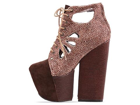 Jeffrey Campbell X Human Aliens In Brown White Coffee Hair Celethia