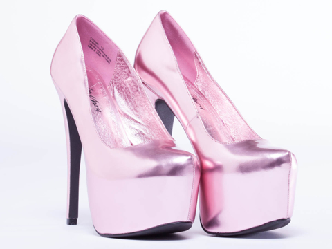 Jennifer Chou In Pink Metallic Cathrine