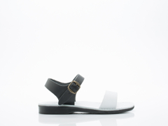 Jerusalem Sandals In Black White Atara Mens