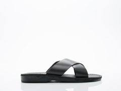 Jerusalem Sandals In Black Elan Mens