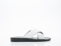 Jerusalem Sandals In Black White Elan Mens