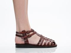Jerusalem Sandals In Brown Sheba Womens