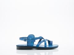 Jerusalem Sandals In Blue The Good Shepherd Buckle Womens