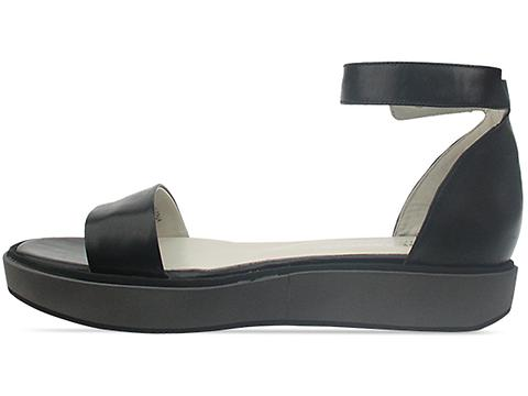 Jil Sander Navy In Black Grey Demi Flatform Sandal