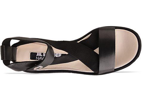 Jil Sander Navy In Black Elastic Platform Sandal
