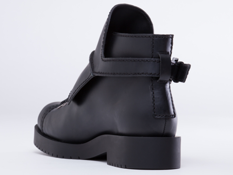 Jil Sander Navy In Black Lace Up Boot