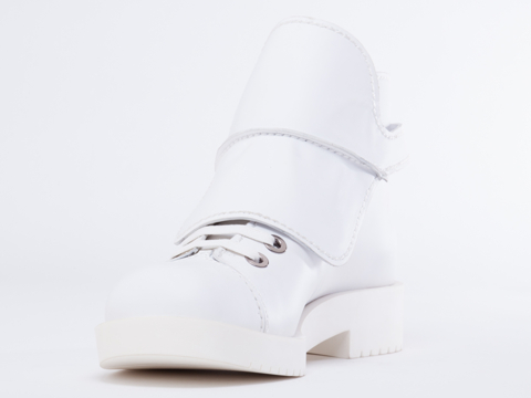 Jil Sander Navy In White Lace Up Boot