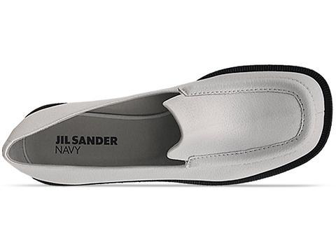 Jil Sander Navy In White Platform Loafer