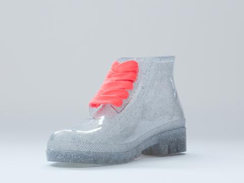 JuJu In Multi Glitter Miller Jelly Boot