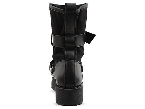 K.T.Z. In Black Belt Detailed Boots