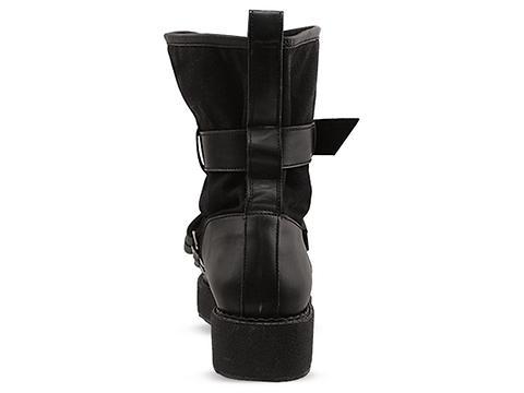 K.T.Z. In Black Belt Detailed Boots Mens