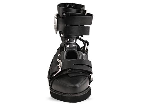 K.T.Z. In Black Harness Sandal D