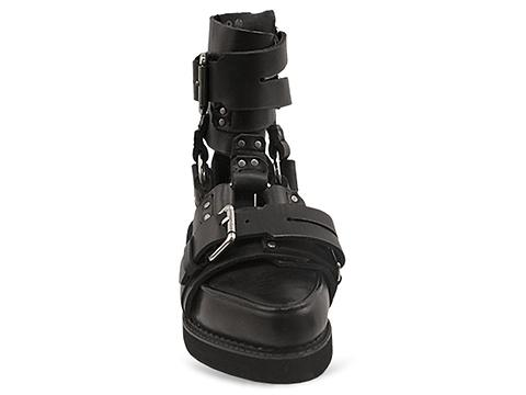K.T.Z. In Black Harness Sandal D Womens