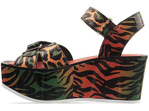 Kenzo In Orange Green Black Patent 235283