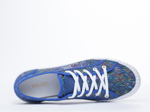 Kenzo In Line Drawings Multicolor Blue Helmut Mens