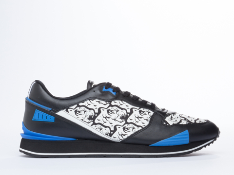 Kenzo In Black White Running Tiger Head Mens