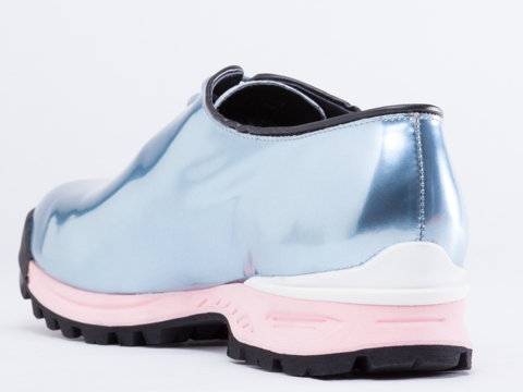Kenzo In Leather Metal Sky Blue Sneaker Mens